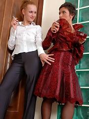 Sheila&Emilia horny nylon lesbians