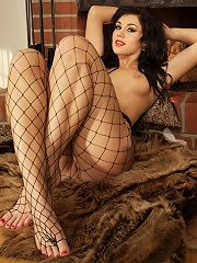 Tammys tight fishnets are going to trap you inside and make you scream for mercy.