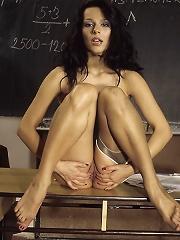 Naughty School Teacher Gets Naked After Class