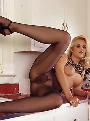 Young suburban housewife