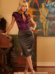 Jana Cova rocks her business attire as she gets you in the mood.