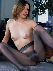Brunette With Stockings