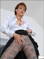 Pantyhosed hot wife