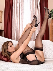 Hot MILF with nice legs and feet