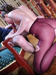 Emm&Herbert having nasty pantyhose sex